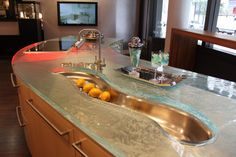 Glass Countertop Designs Are One Of The Latest Trends In Decorating Modern  Kitchens