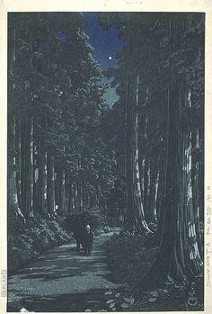 "Kawase Hasui (Japan, 1883-1957), ""Rows of Cedars in Nikko,"" May 1930"