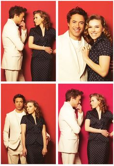 "Robert Downey Jr. and Scarlett Johansson (""Avengers"")"