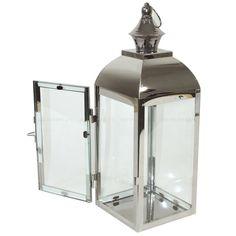 "LAMPION SREBRNY DEKORACYJNY""ORIENT""38,5x14cm"