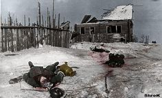Russian winter Killed German soldiers