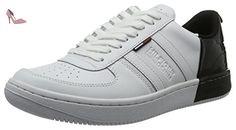 Tommy Hilfiger J2385ump 5a, Sneakers Basses Homme, Blanc (White-Black 901), 44 EU - Chaussures tommy hilfiger (*Partner-Link)