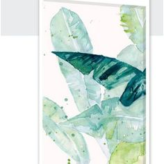 Bay Isle Home Water Color Palms II Painting Print on Wrapped Canvas