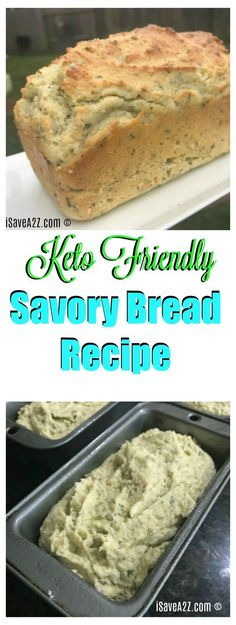 Savory Keto Bread Recipe that's perfect for Thanksgiving! via @isavea2z #DietingFoods,