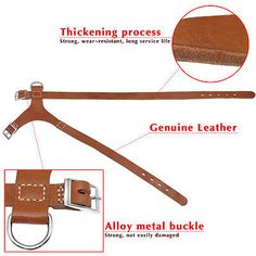 Classic Brown Handcrafe Genuine Leather Pet Dog Harness for Medium Large Dogs