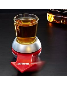 Spin The Shot Glass Drinking Cup Bottle Wine Beer Game Fun Party