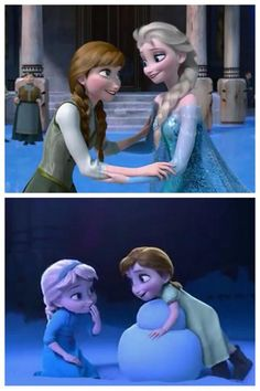 This is the cutest!!! (Elsa  Anna from Disney Frozen, 2013)