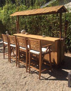Small Outdoor Kitchens, Diy Outdoor Kitchen, Outdoor Spaces, Deck Bar, Pool Bar, Deck Patio, Backyard Bar, Backyard Ideas, Patio Ideas