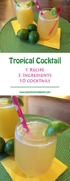 sometimes-i-add-wine | 1 Recipe - 3 Ingredients - 10 Delicious Cocktails