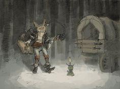 Traveling Merchant Fox by Zethelius