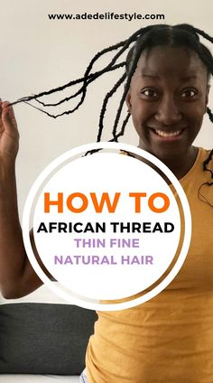 African threading on thin fine natural hair finenaturalhair Fine Natural Hair, Natural Hair Care Tips, How To Grow Natural Hair, Natural Hair Styles, Natural Curls, African Threading, Hair Threading, Hair Topic, Deep Conditioner For Natural Hair