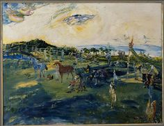 Loved Jack B. Yeats' A Race in Hy Brazil and all the paintings linked to W. Luck Of The Irish, Irish Luck, Irish Painters, Jack B, William Butler Yeats, Life Touch, Irish Art, Samuel Beckett, Brazil