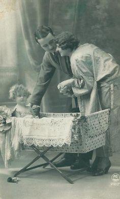 Little Family...Vintage Postcard (1926)