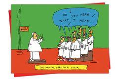 Image result for christmas carols mental health do you hear what i hear joke cartoon