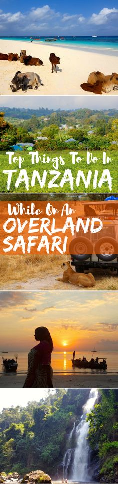 Reviews and recommendations of the most common excursions in Tanzania during an overland safari across the country in Africa.