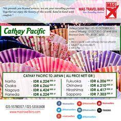 Terbang ke Jepang Hanya Rp 6 Jutaan ! Pesan Sekarang ! :D #cathaypacific #japan #promo #ticket