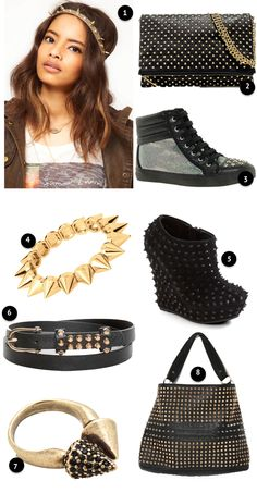 Spikes and Studs Trend with stuffs from @ASOS (@ASOS Marketplace), @ModCloth & @zara #fashion #style #frugal #fall