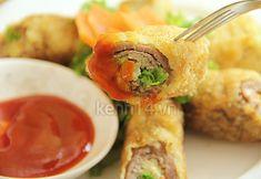Bò cuộn đậu phụ chiên