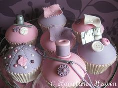 Dressmaker Cupcakes - The detail is so perfect!