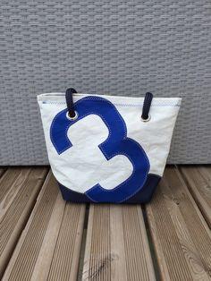 Sac en voile de bateau recyclée - Cabas By-Eno N°3 : Sacs à main par by-eno