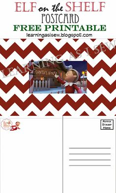 I totally have to do this NOW! Learning As I Sew.bake, cut, and create: Elf on the Shelf Postcard - FREE Printable All Things Christmas, Christmas Holidays, Girl Elf, Buddy The Elf, Jingle All The Way, Winter Wonder, Holiday Fun, Holiday Ideas, Christmas Ideas