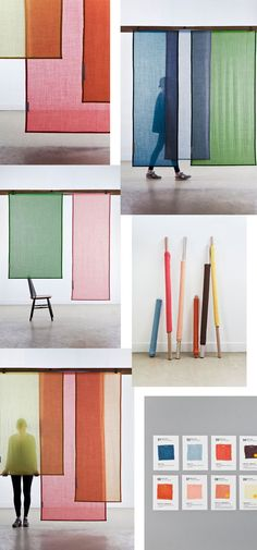 Raw Color did it again . Simply perfection and it combines all the things I lo. - Raw Color did it again … Simply perfection and it combines all the things I love . Room Divider Diy, Divider Ideas, Panel Room Divider, Decorative Room Dividers, Raw Color, Colour Colour, Exhibition Display, Exhibition Room, Exhibition Stands