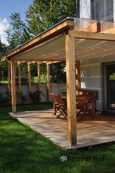 White Steel Pergola - - Steel Pergola With Canopy - - Pergola Bioclimatique Amenagement - Petite Pergola Bioclimatique Diy Pergola, Gazebo, Pergola Carport, Corner Pergola, Pergola Canopy, Pergola With Roof, Wooden Pergola, Pergola Ideas, Backyards