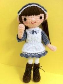 niña amigurumi apgina japonesa