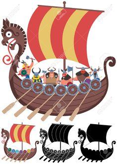 Viking boat cartoon - Buscar con Google                                                                                                                                                      More