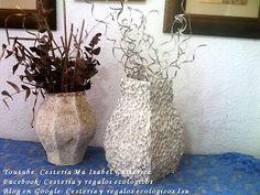 JARRÓN DE CARTÓN. Vase made of cardboard - YouTube