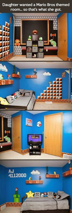 This is the coolest room ever! I am so jealous!