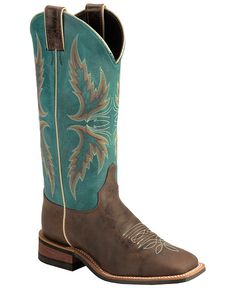 d9cccffe12 Justin Boots Women s U. Bent Rail Collection Boot Wide Square Double Stitch  Toe Performance Rubber Outsole