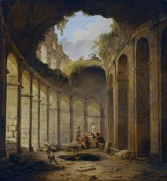 Colosseum, Rome - Robert Hubert - WikiArt.org