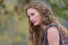 Aslaug played by Allyssa Sutherland   She is a HULDRA!!!!!! in some traditions, the huldra lures men into the forest to have sexual intercourse with her, rewarding those who satisfy her and often killing those who do not. .In some cases, the intercourse resulted in a child, being presented to the unknowing father.