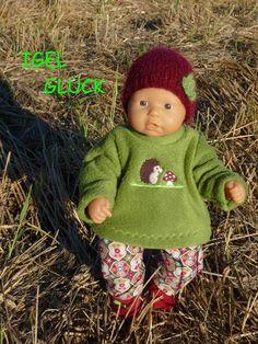 """Puppenkleidung - """"IgelGlück"""" 4tlg Set Gr.35-40cm - ein Designerstück von…"""