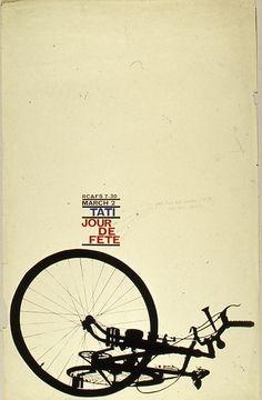 movieposteroftheday: 1960 Royal College of Art Film Society poster for JOUR DE FETE (Jacques Tati, France, 1949) Designer: Norman Vertigan Poster source: www.jannuzzismith.com