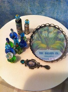 Dollhouse Miniature Perfume Tray Free Shipping by miniaturemondo, $18.99