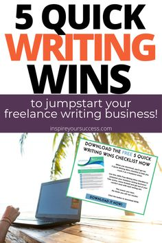 Start your freelance writing journey with this writing wins checklist! Take action, move forward and jumpstart success. #freelancewriting #writing #success