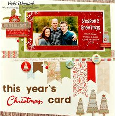 Using a Christmas card in a layout