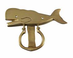 Solid Brass Sperm Whale Door Knocker | eBay