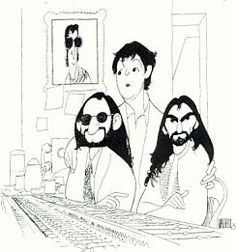 The Beatles, 2000, by Al Hirschfeld...FOLLOW THIS BOARD FOR GREAT CARICATURES OR ANY OF OUR OTHER CARICATURE BOARDS. WE HAVE A FEW SEPERATED BY THINGS LIKE ACTORS, MUSICIANS, POLITICS. SPORTS AND MORE...CHECK 'EM OUT!!