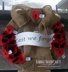 Kowhai Haven Crafts ANZAC 2015 handcrafted wreath