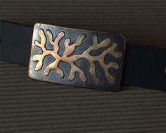 Organic Freeform ROOTS Bronze on Stainless Steel belt buckle by ironartcanada, $149.00