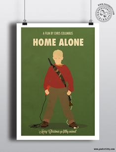 Home Alone - Minimal Christmas Movie Poster by Posteritty #Christmas #xmas #MinimalMoviePosters #Posteritty #HomeAlone