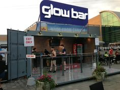 Container bar in use.