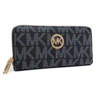 Michael Kors Monogram Continental Wallet Black $49.99  http://www.newperfectstyle.com/