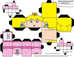 Princess Peach Cubeecraft by RiffshePete on deviantART