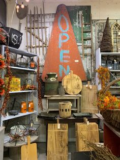 Store Displays, Fall, Autumn, Shop Cabinets