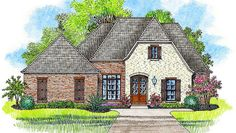 Open Concept 4-Bed Acadian House Plan - 56406SM   1st Floor Master Suite, Acadian, European, French Country, PDF, Southern   Architectural Designs
