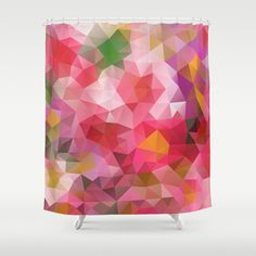Shower Curtain Curtain Art Curtain Triangles Abstract by NikaLim, ₪310.00